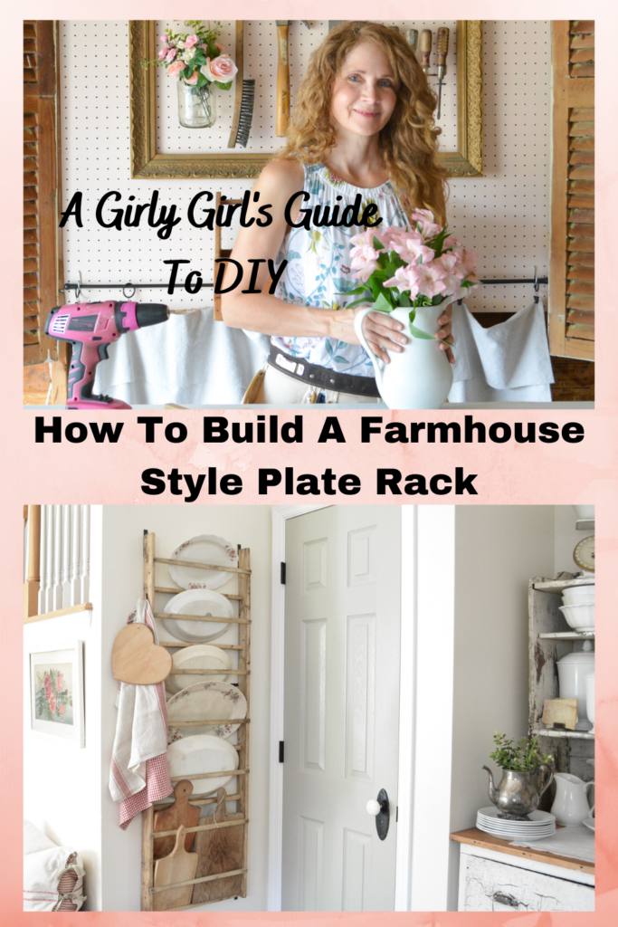How To Build A Farmhouse Style Plate Rack Janet Clark At Home
